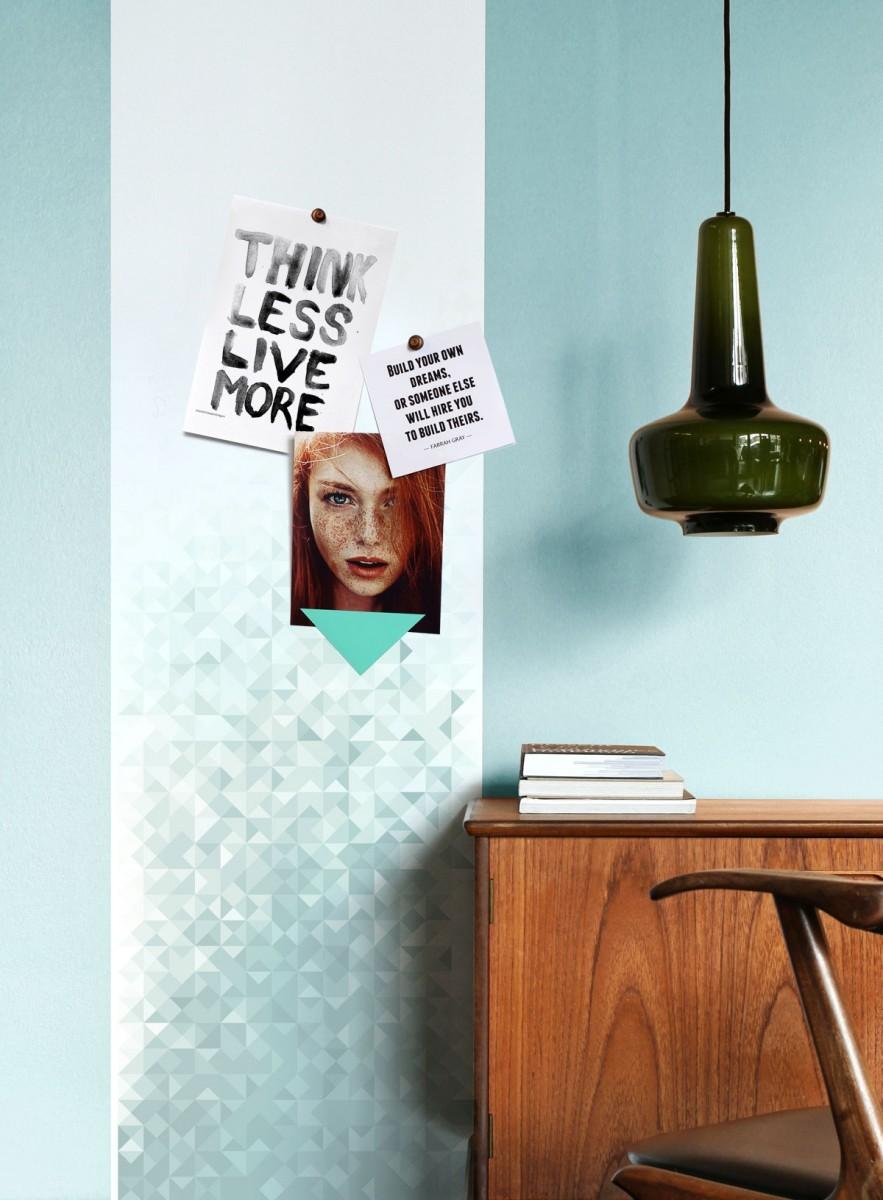 papier peint magn tique g o blue groovy magnets. Black Bedroom Furniture Sets. Home Design Ideas