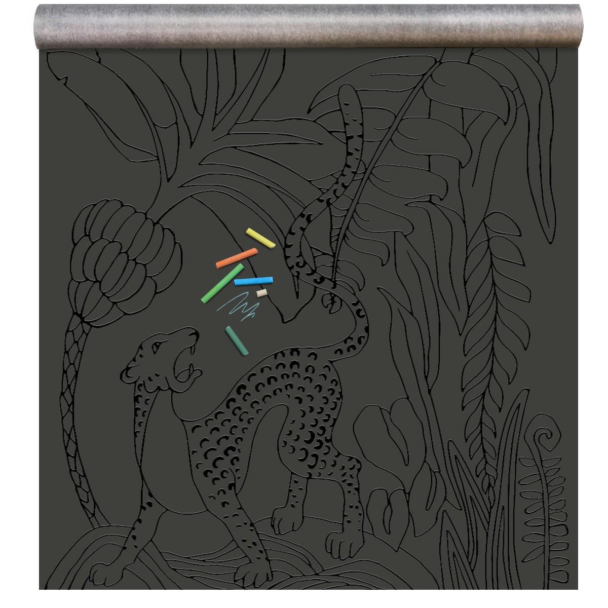 papier peint magn tique 39 tableau noir 39 raton laveur noir avec une empreinte noir gloss. Black Bedroom Furniture Sets. Home Design Ideas