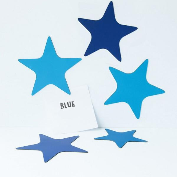 Magnet set stars shades of blue / Groovy Magnets