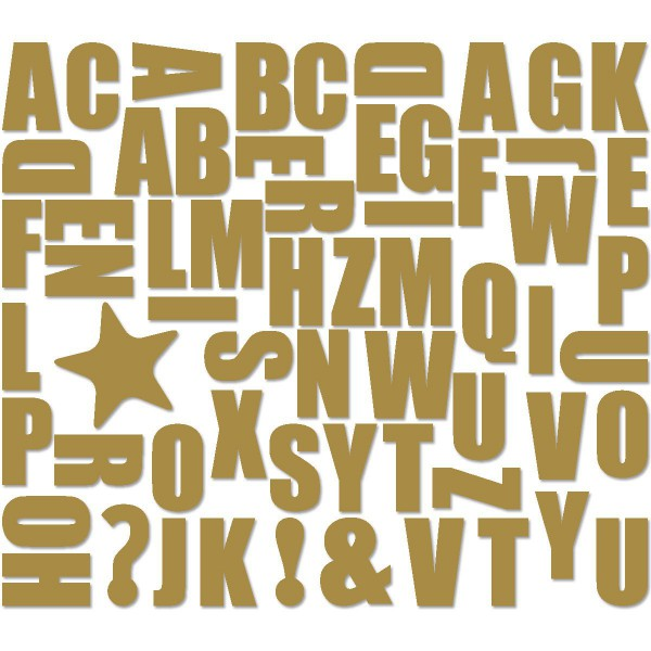 Assortiment d'aimants alphabet or / Groovy Magnets