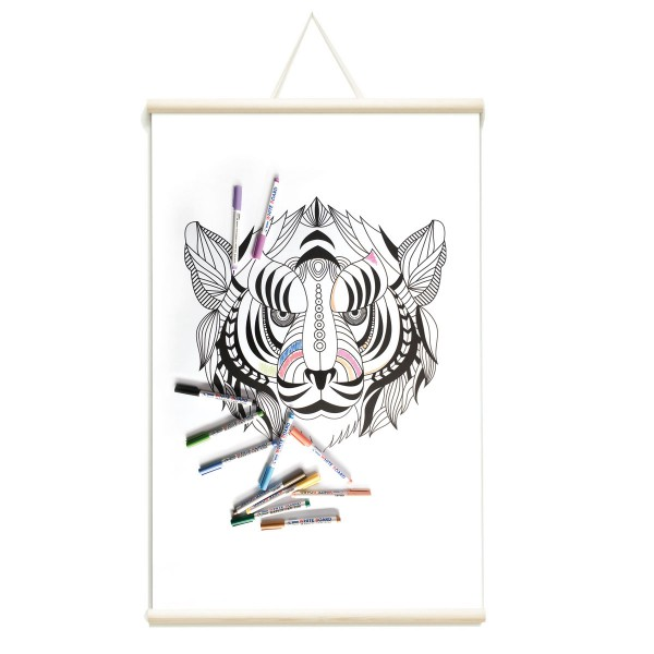 whiteboard magnetic poster indian tiger groovy magnets