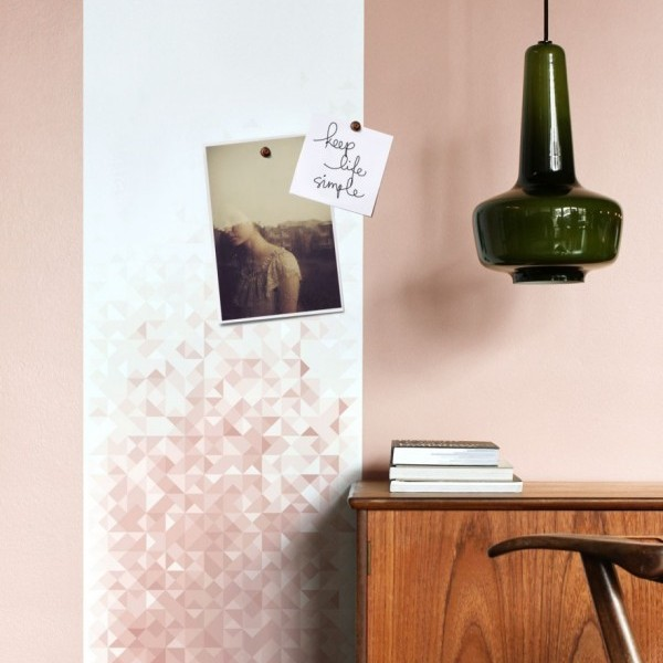 Geo magnetic wallpaper - old rose From € 74,95