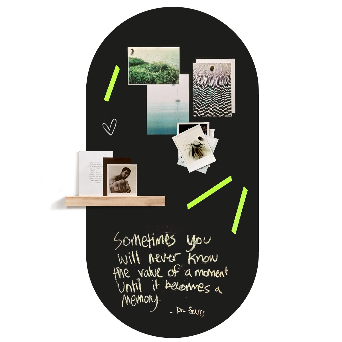 Chalkboard magnetic wall sticker by Groovy Magnets