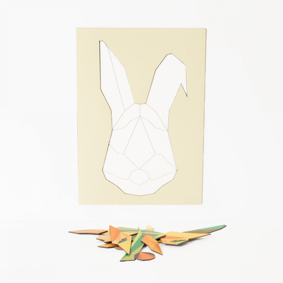 Magnetic Puzzle Rabbit Groovy Magnets