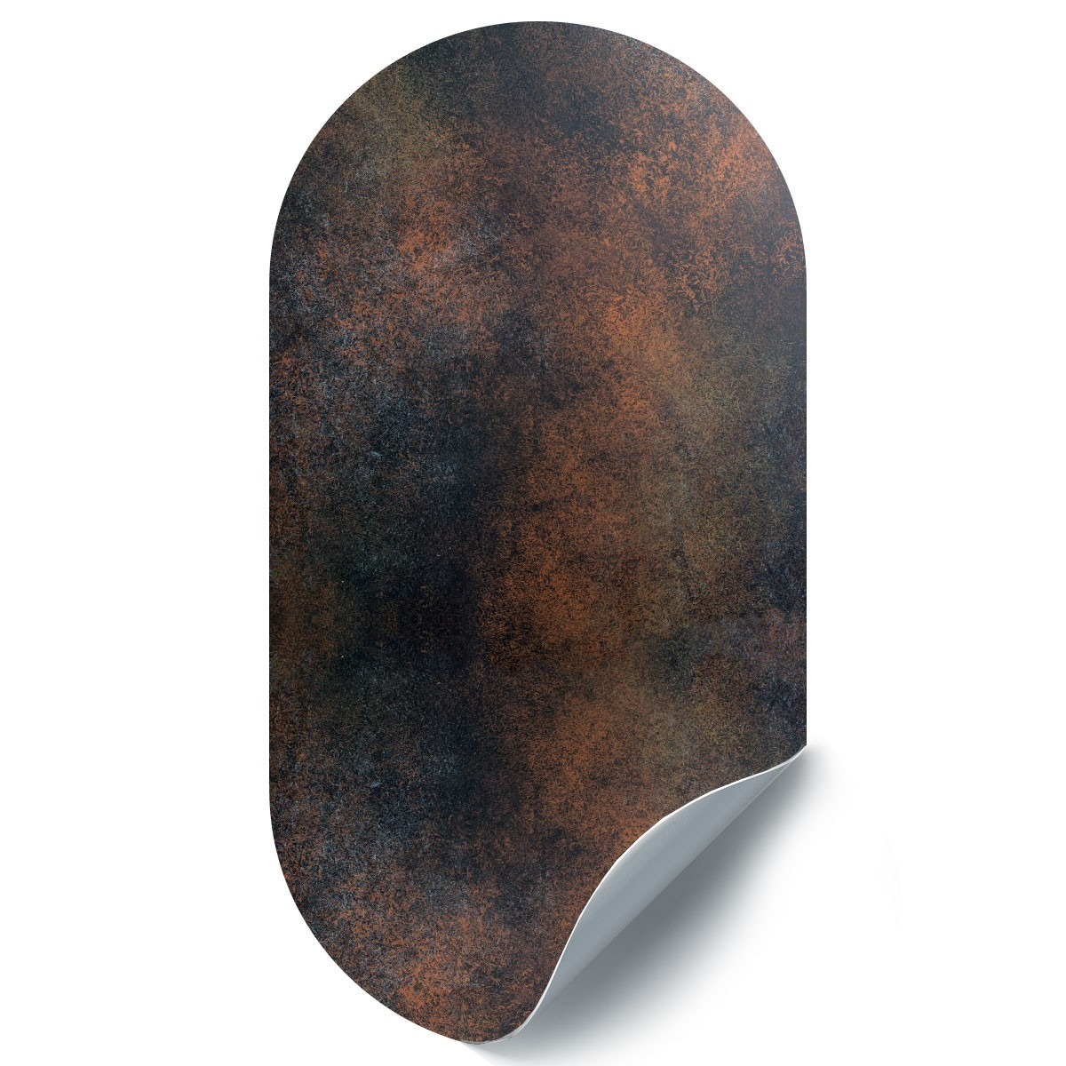 Ovale-shaped wall sticker by Groovy Magnets 'Rusty Dark'