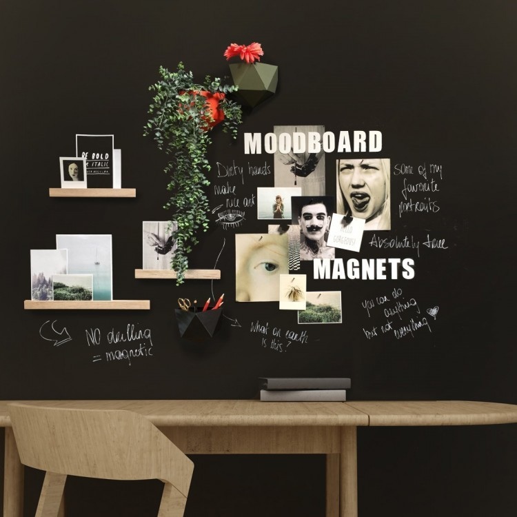 Chalkboard magnetic wallpaper Premium Pro - extra adhesive / Groovy Magnets wallpaper