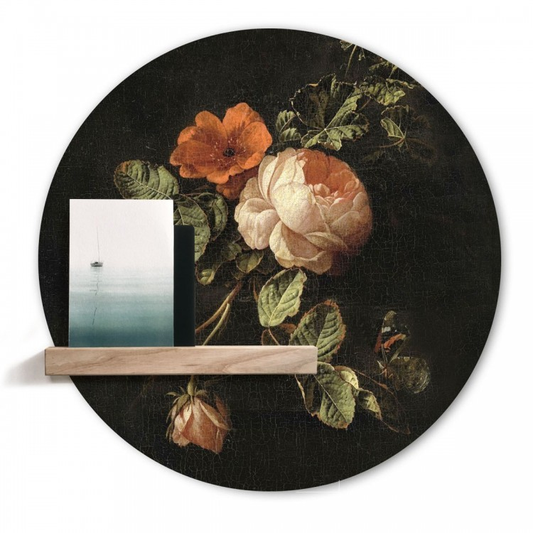 Magnetic wall sticker 'Flowers for ...' by Groovy Magnets - round adhesive wall sticker with print