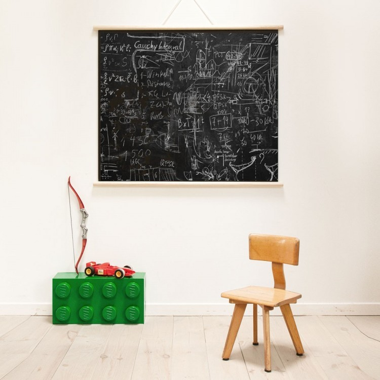 Magnetic poster - with frame - chalkboard